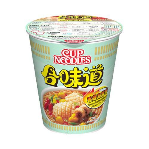 日本nissin日清 合味道 杯装方便面 香辣海鲜味 75g