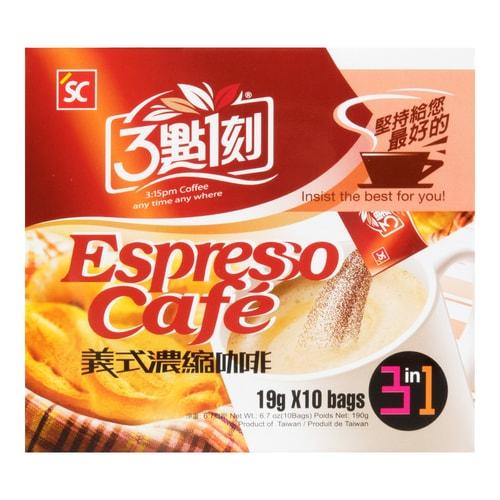 3:15PM 3 in 1 Espresso Cafe 19g X 10Bags