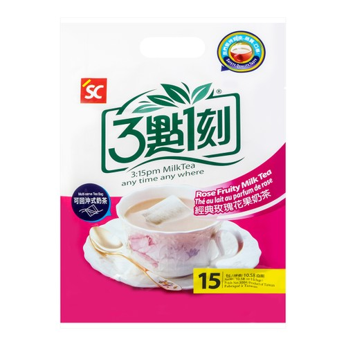 3:15PM Multi-Serve Rose Fruity Milk Tea 18Bags 300g