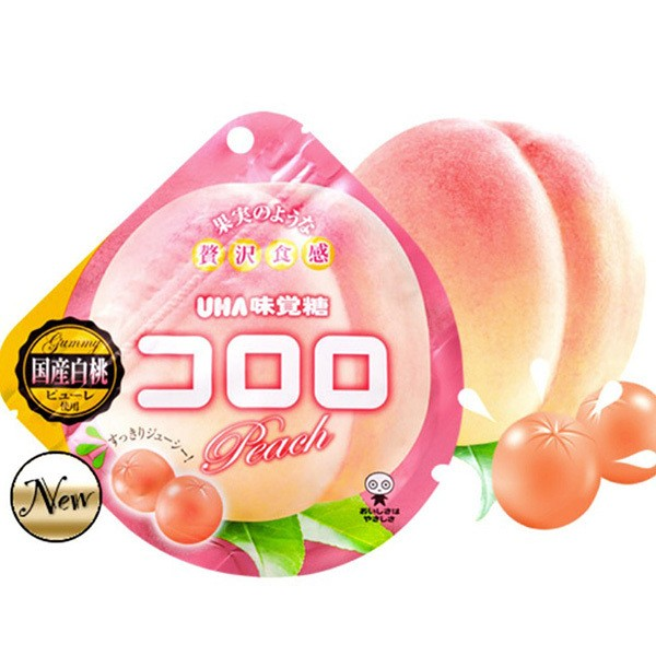 UHA Fruit Candy Peach Flavor Summer Limited 40g