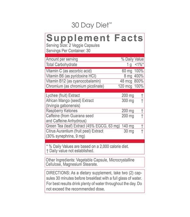 30 day diet supplement